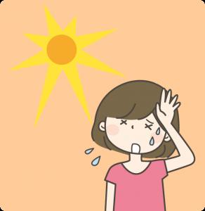 夏の冷え性_女性